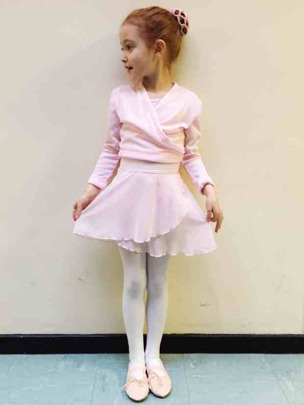 Ava in her ballet outfit