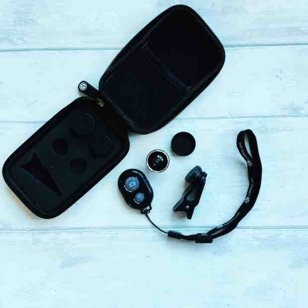 phone lens kit with remote control
