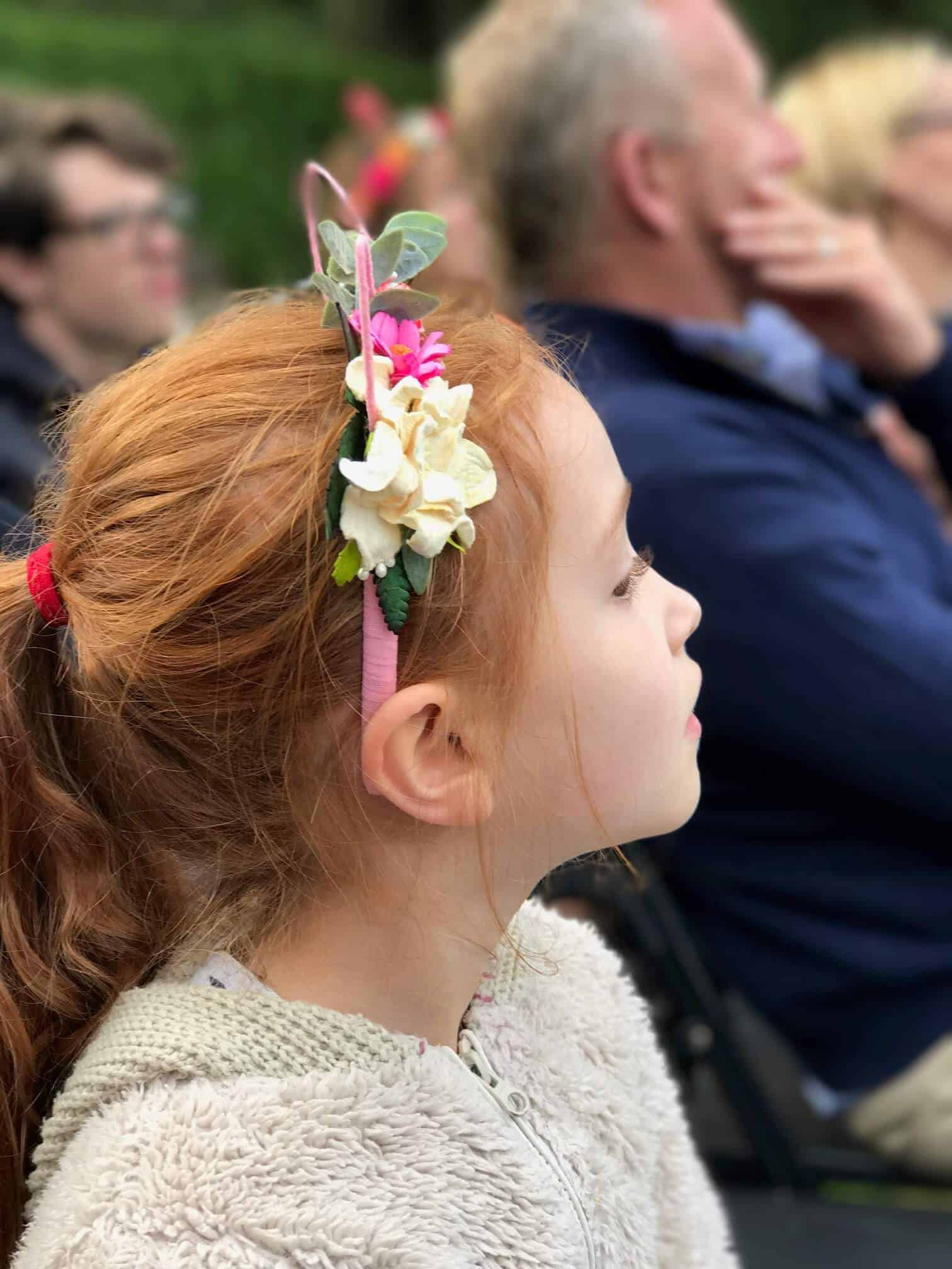 Ava in a flower headband