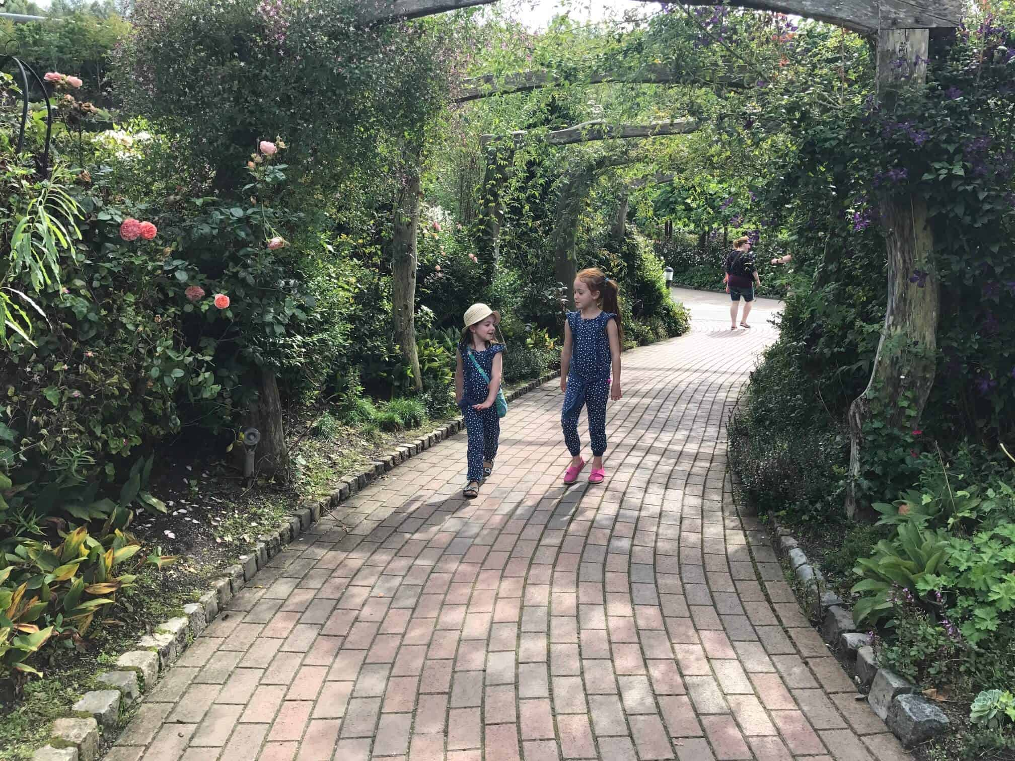 Thea and Ava enjoying The Eden Project