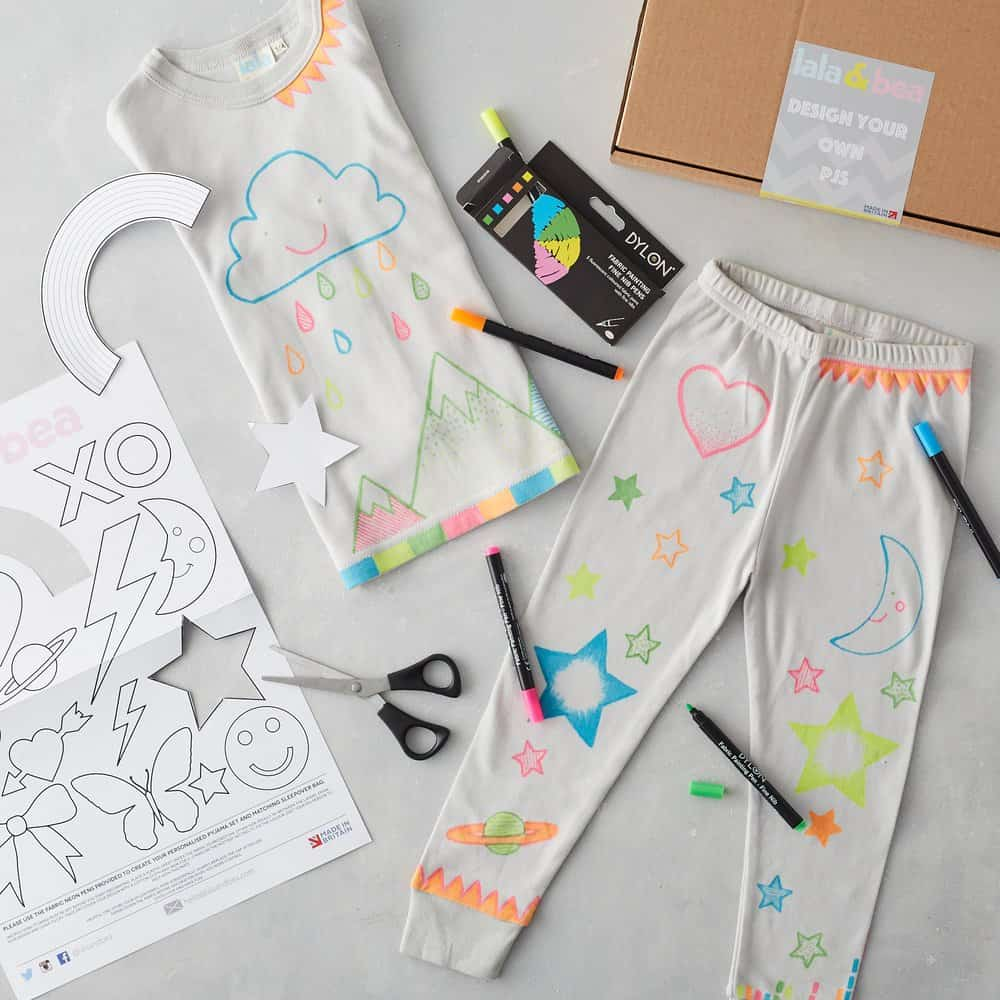 LaLa and Bea Design Your Own Organic Cotton PJs