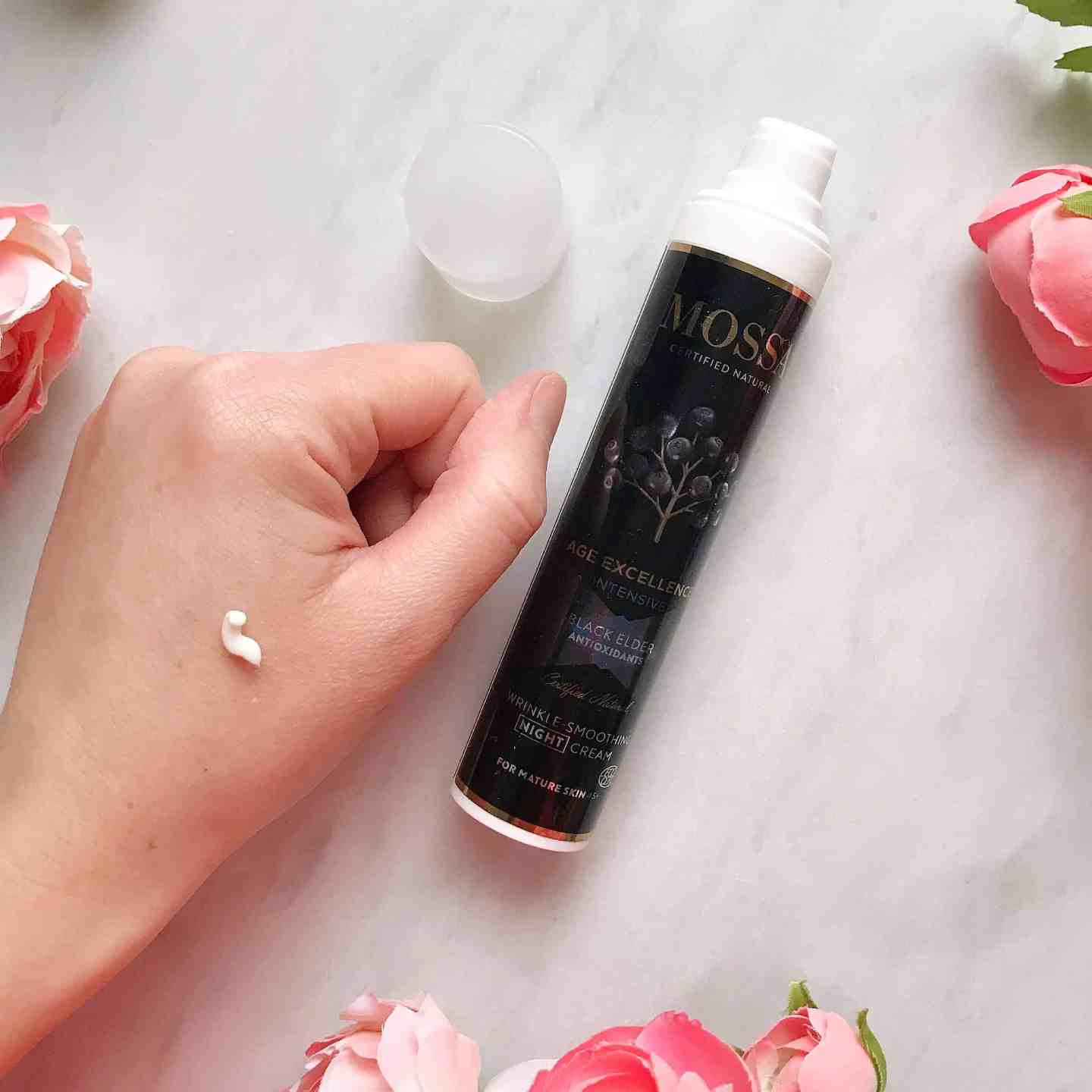 Mossa Organic Skincare: Age Excellence Wrinkle Smoothing Night Cream Review