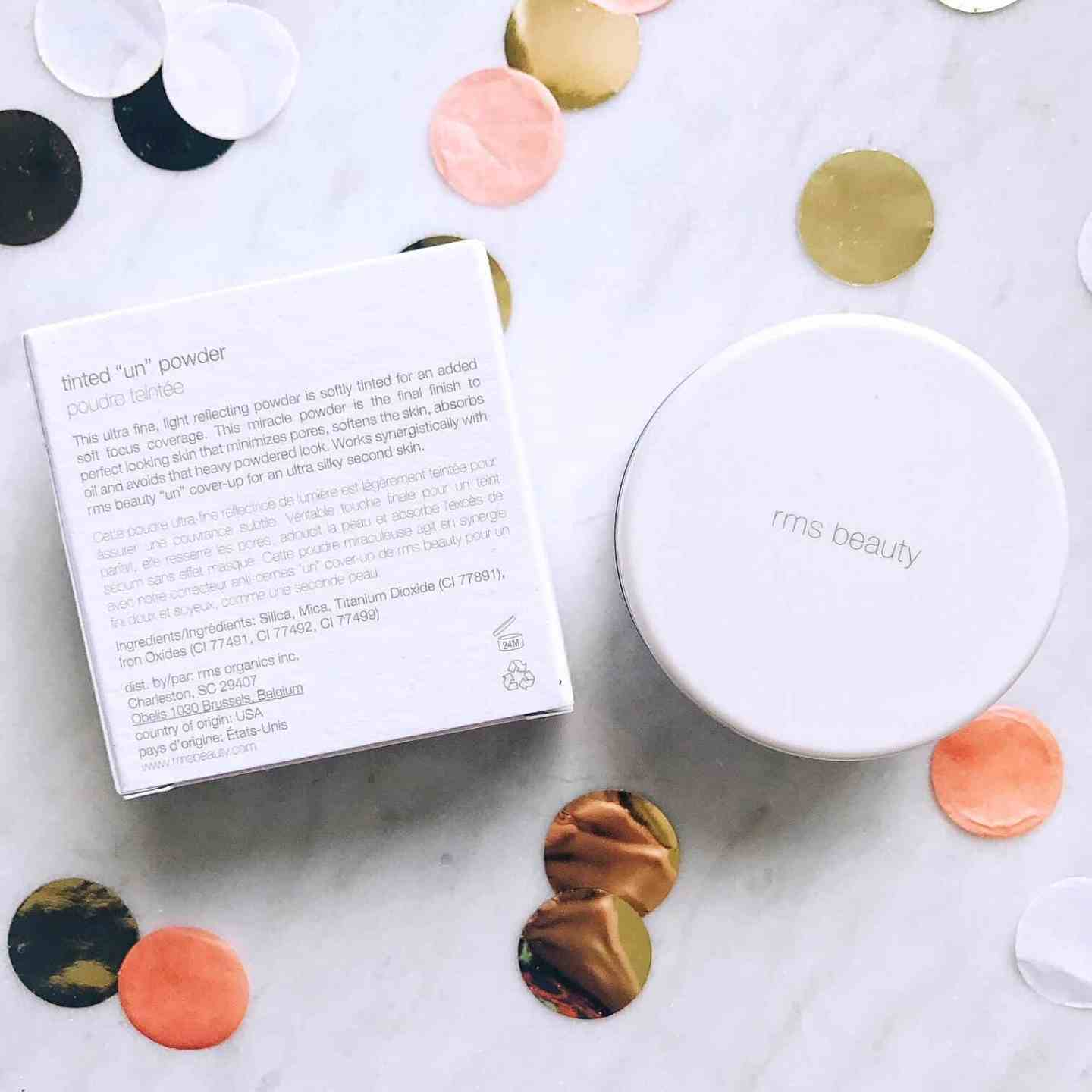 RMS Beauty tinted 'Un' Powder with ingredient list