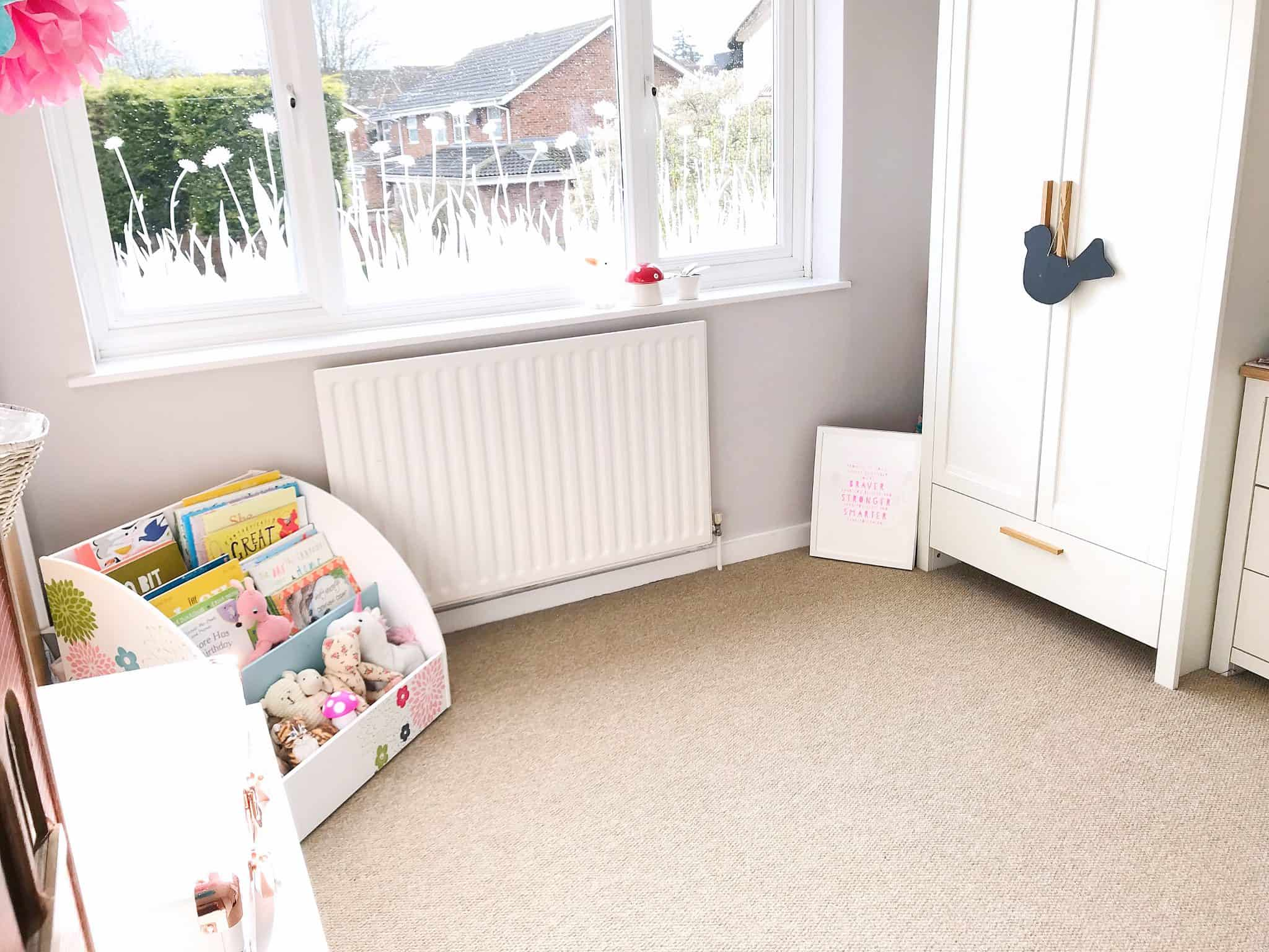 A bedroom ready to make a playroom and creative space