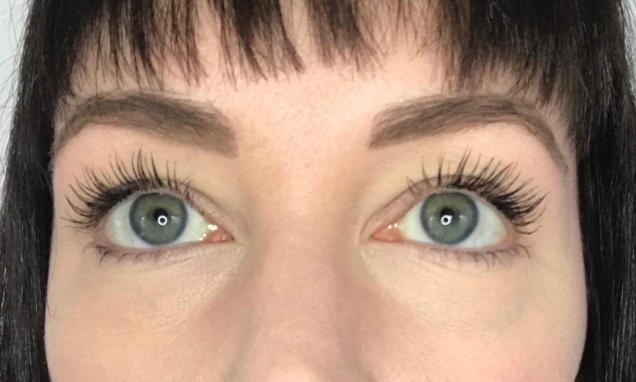 Inika Long Lash Mascara Review - two coats on my lashes