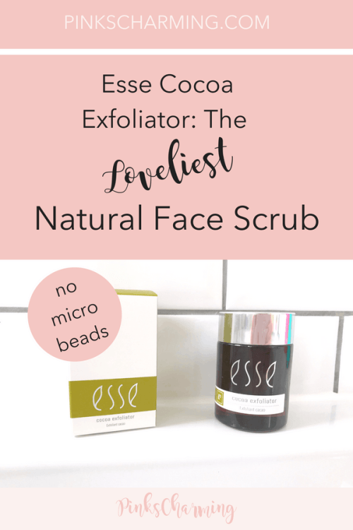 Esse Cocoa Exfoliator. The Loveliest Natural Face Scrub that has no damaging microbeads and recyclable glass and cardboard packaging
