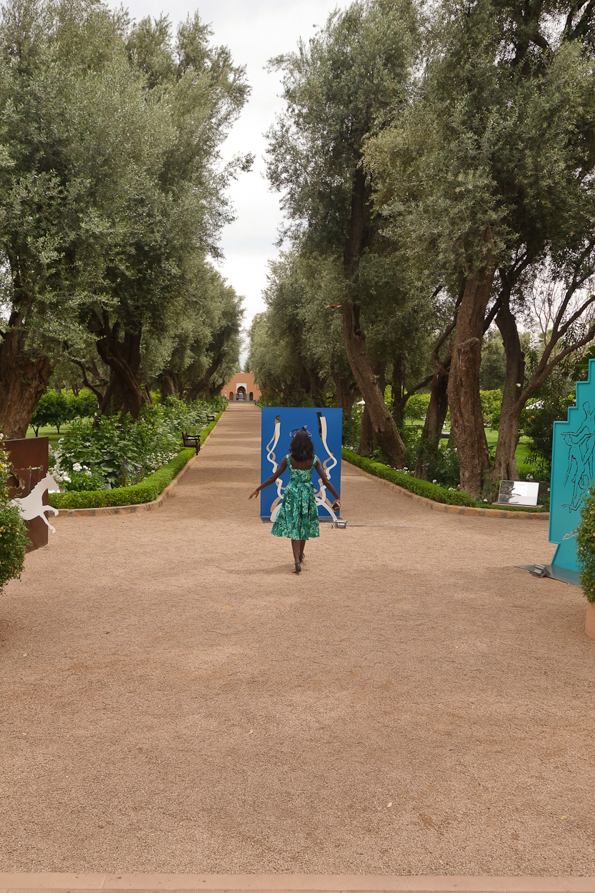 Art in the gardens at La Mamounia hotel, Marrakech