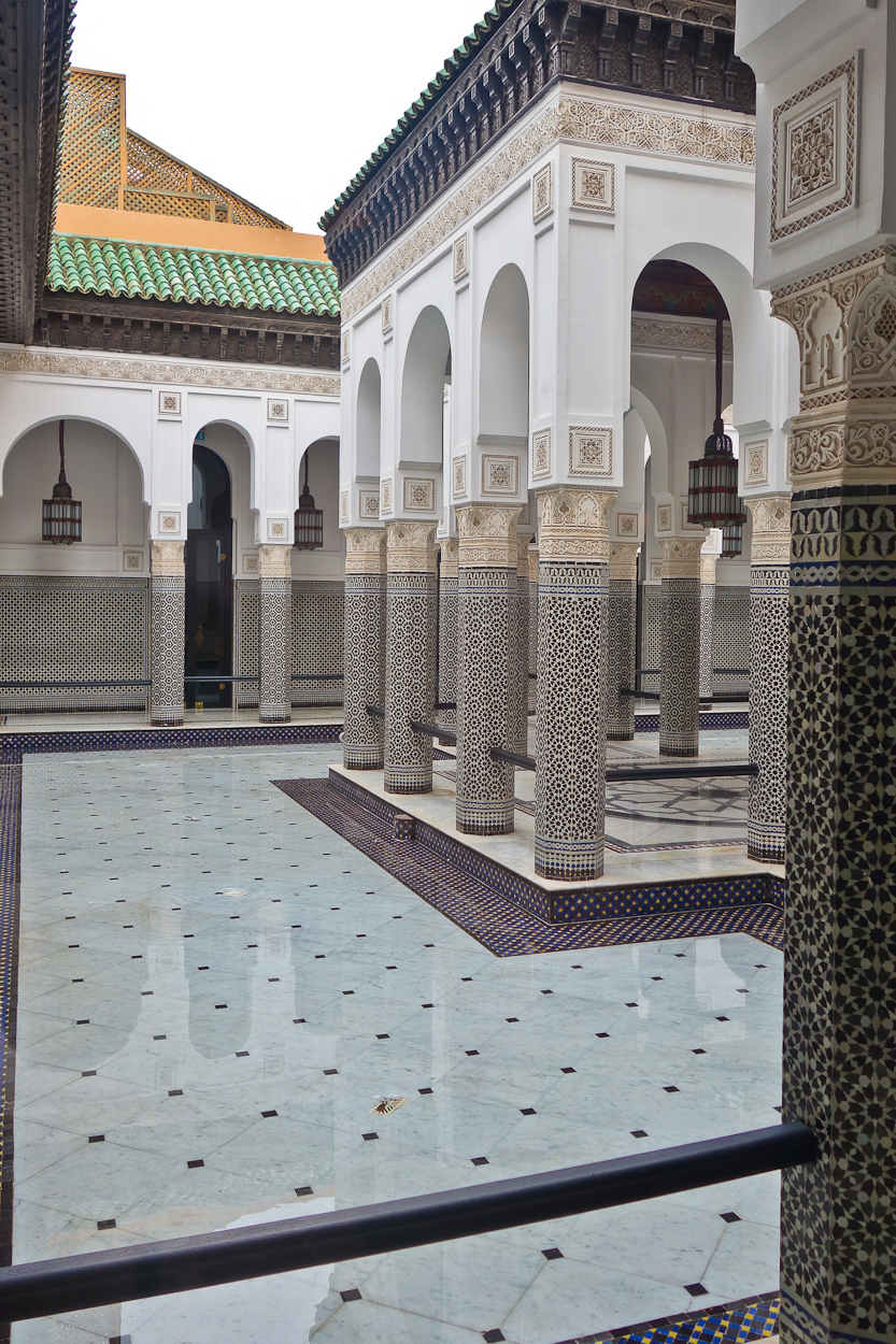 Tiled courtyard at La Mamounia hotel, Marrakech