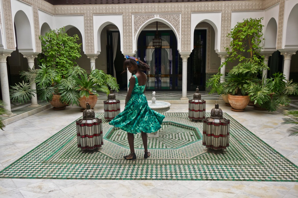 Amah in the spa courtyard at La Mamounia hotel, Marrakech