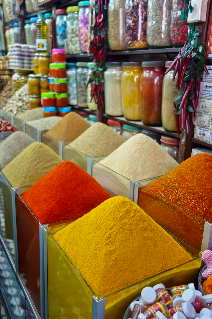 Spices for sale in the souk, Marrakech