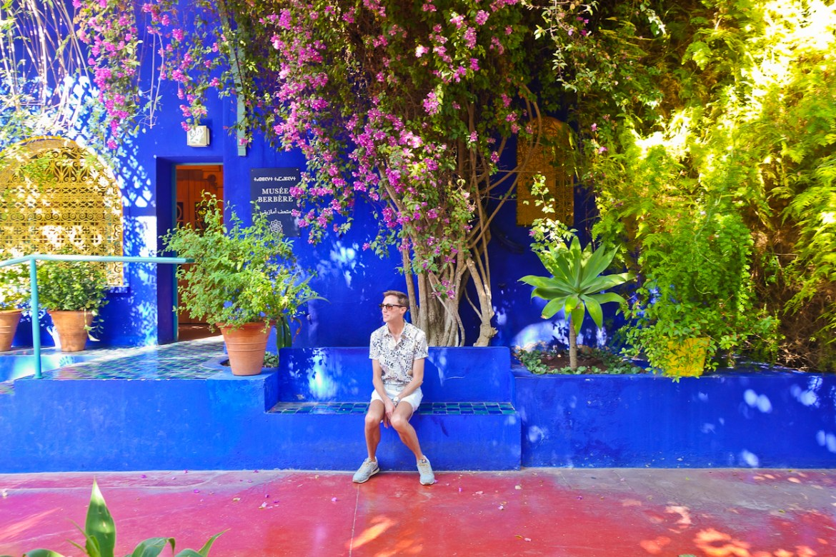 Antoine outside the Berber Museum at Jardin Majorelle, Marrakech