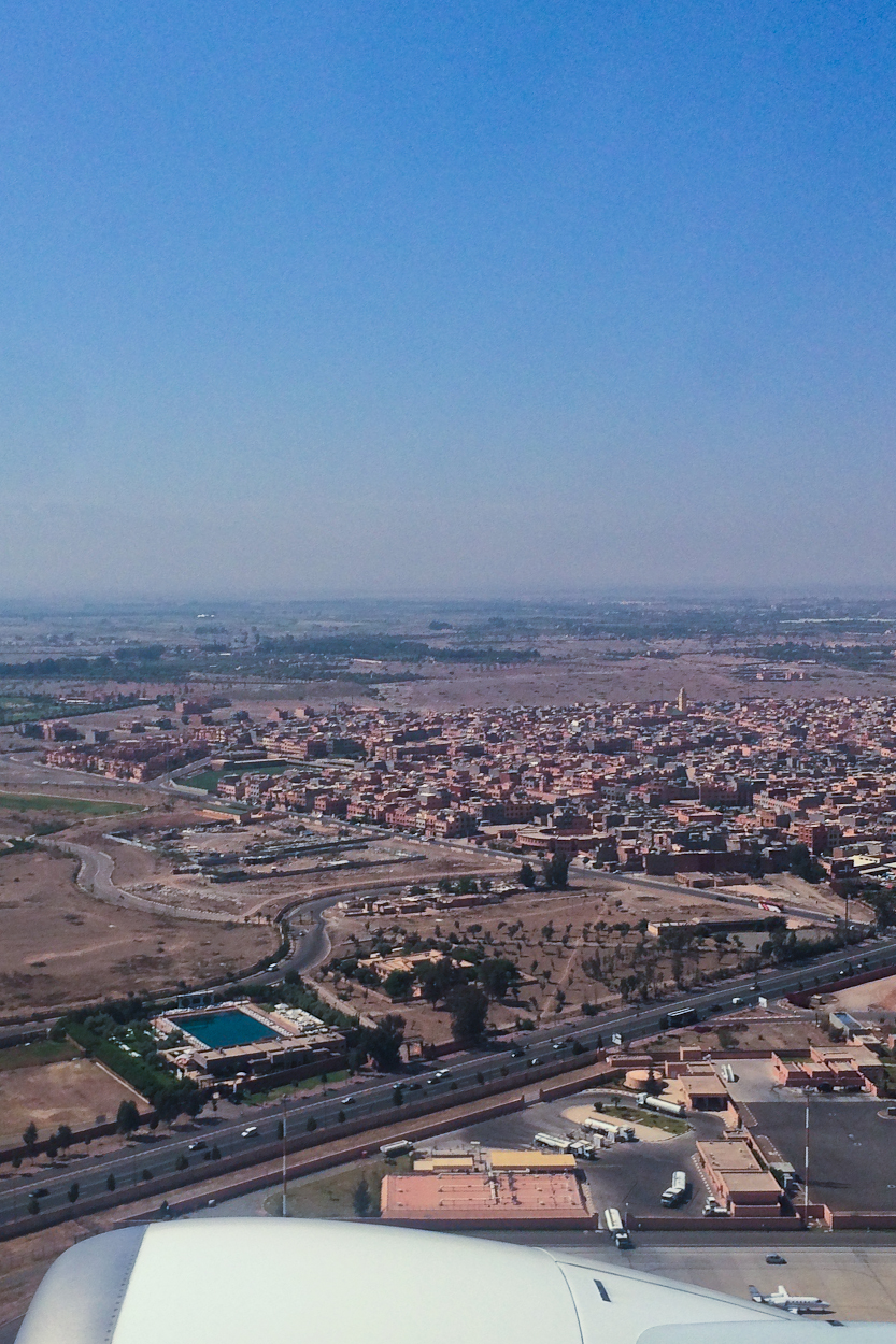 View of Marrakech from a plane