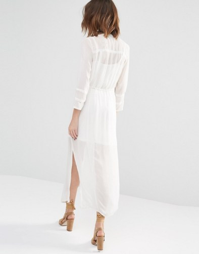 Warehouse Premium Embroidered Shirt Dress
