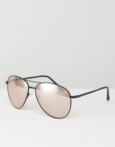 ALDO Aviator Sunglasses with Rose Gold Flash Lens