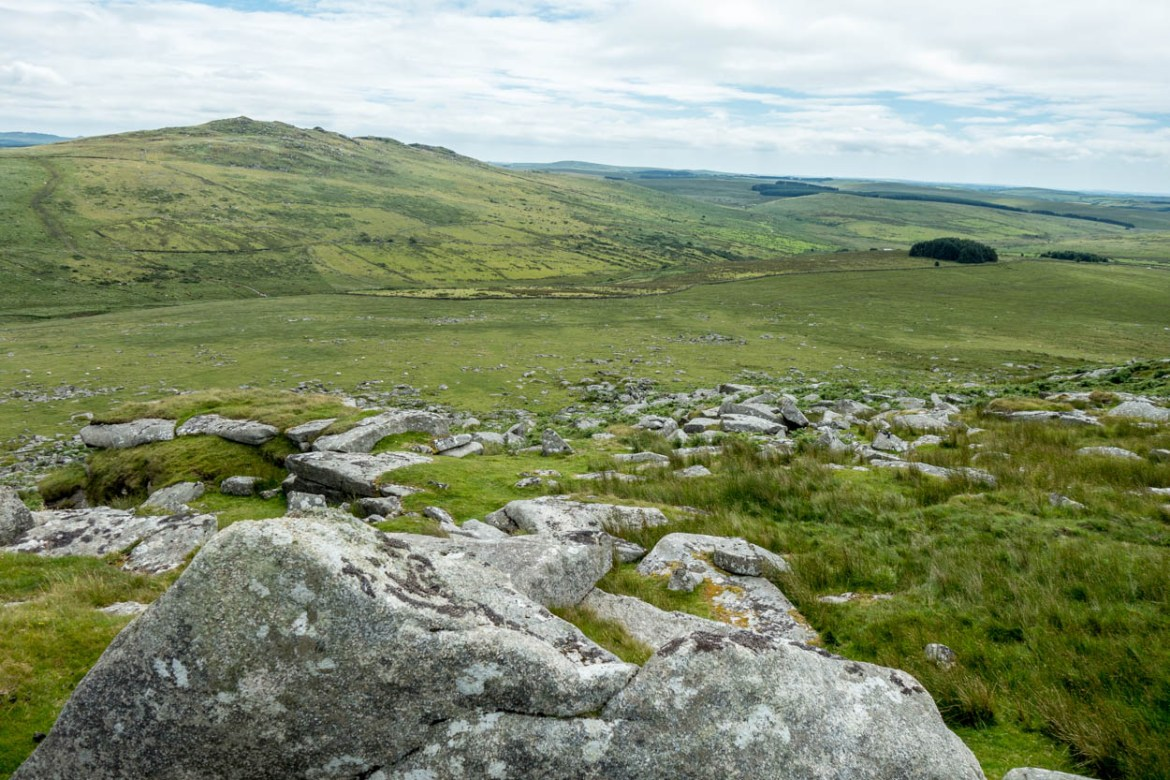 View of Brown Willy from Rough Tor on Bodmin Moor, Cornwall