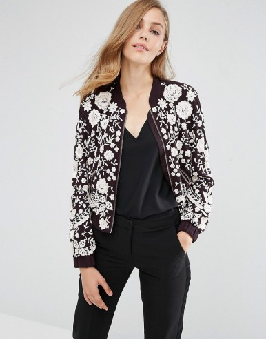 Needle & Thread Embroidery Motif Bomber