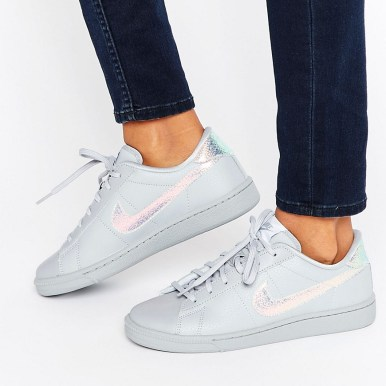 Nike Classic Trainers In Holographic Grey