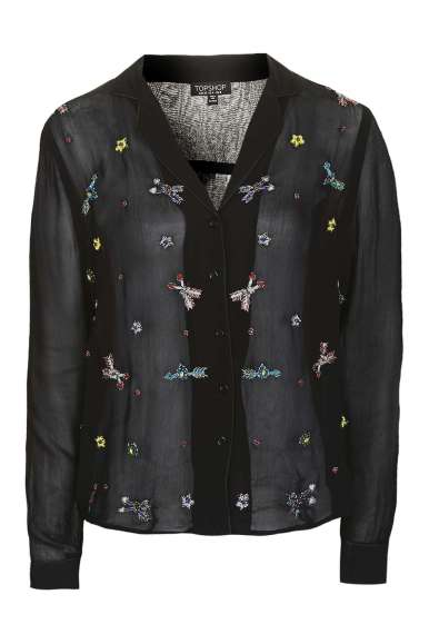 Topshop Arrow Embellished Pyjama Shirt