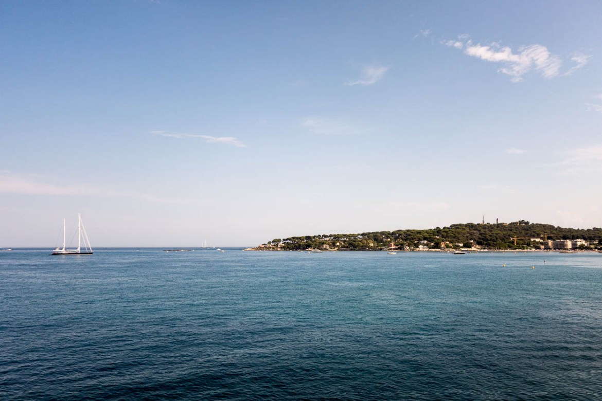 View of Cap D'Antibes from the ramparts of Vieil Antibes