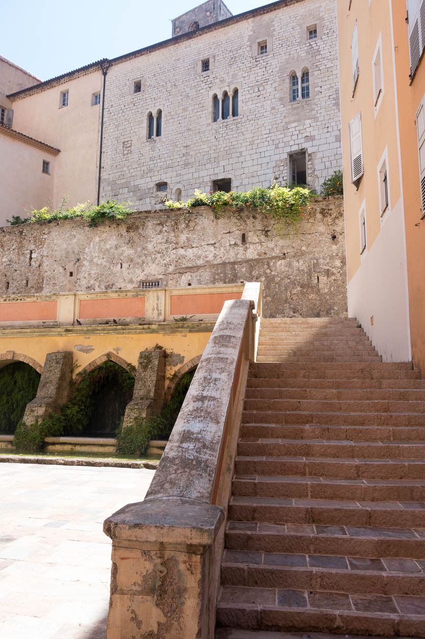 Steps up to the cathedral, Grasse