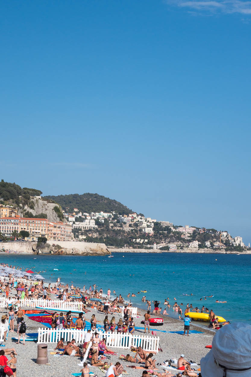 Beach at Nice looking towards Sant-Jean-Cap-Ferrat
