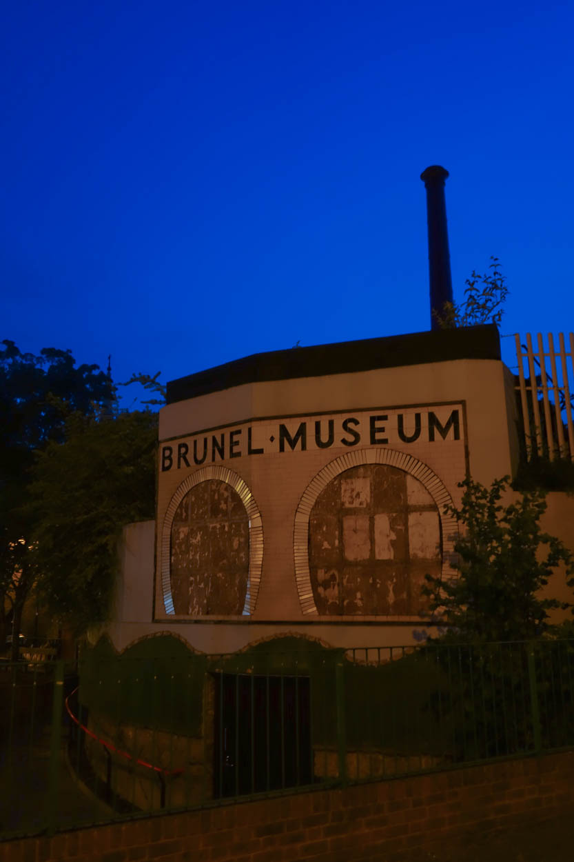 Brunel Museum in Rotherhithe at night