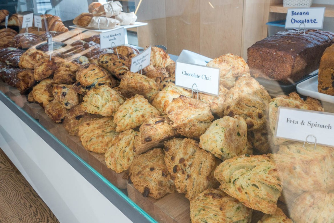 Freshly-baked scones at Quantum Coffee, Toronto