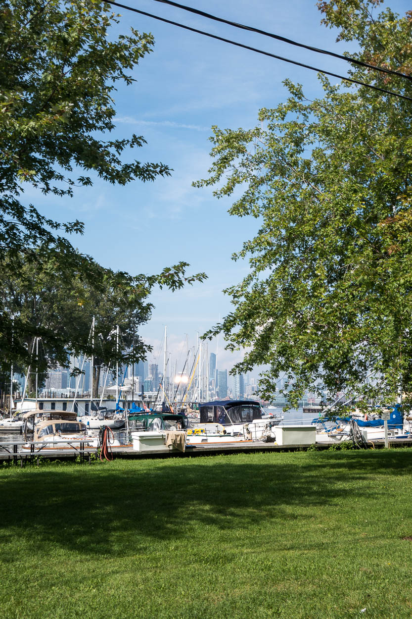 Boats in the harbour on the Toronto Islands