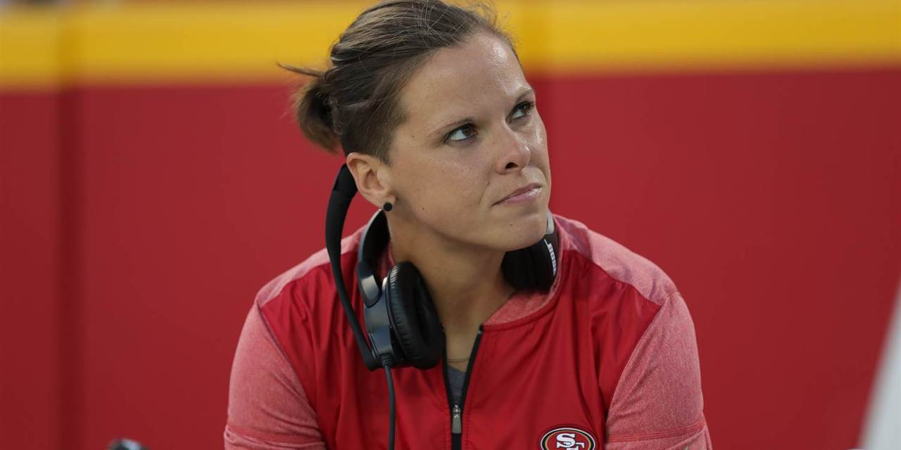 49ers: Katie Sowers is first openly LGBT coach in men's pro sports
