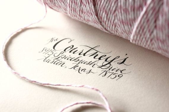 Step Five Ink And Print Return Address Stamp We Used Our Calligraphy Accent On 4 Bar Envelopes To House Your Reply Cards