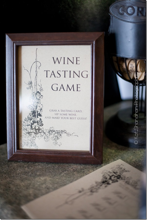 Wine Tasting Game for Little Black Dress Bridal Shower Theme || Photos by Kat Shanahan Photography