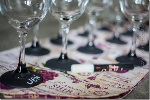 wine tasting game for little black dress bridal shower theme photos by kat shanahan