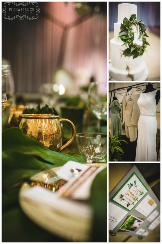 Modern Botanical Wedding Theme | Seen at the La Crosse Bridal Expo | Pink Spruce Photography