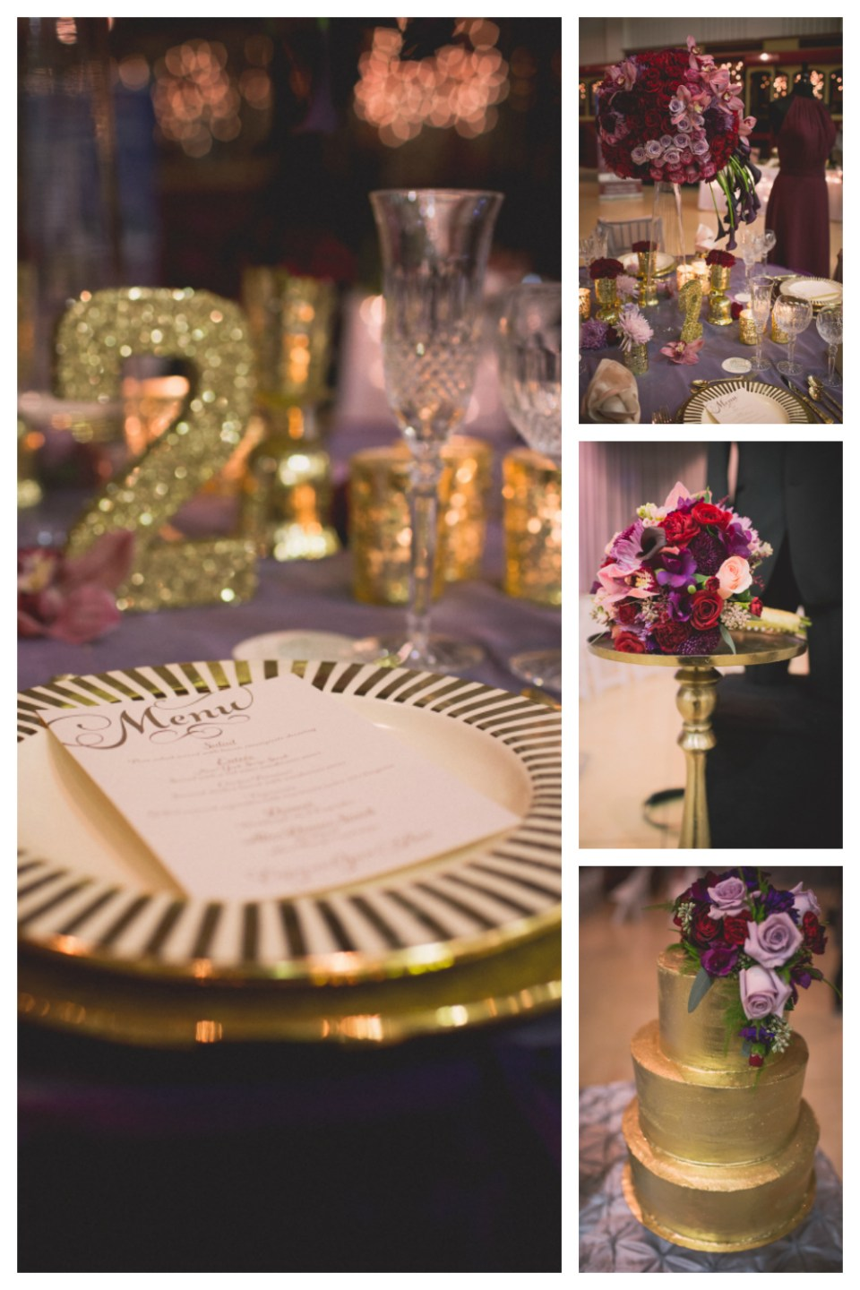 Regal, Raspberry, and Plum Wedding Theme | Seen at the La Crosse Bridal Expo | Pink Spruce Photography