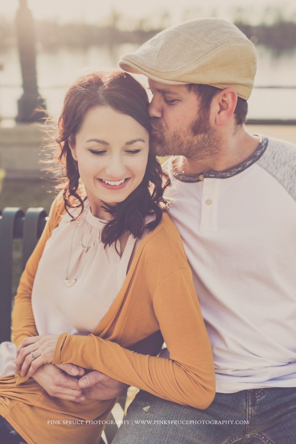 Nvette + Vic | La Crosse Engagement Session | Riverside Park
