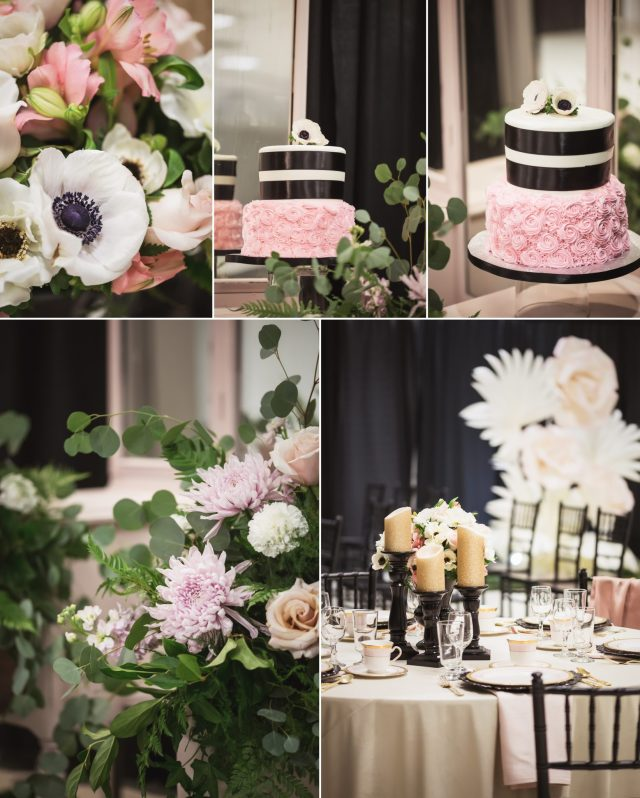 Pink And Black Wedding Ideas: Pink And Black With Stripes Wedding Theme