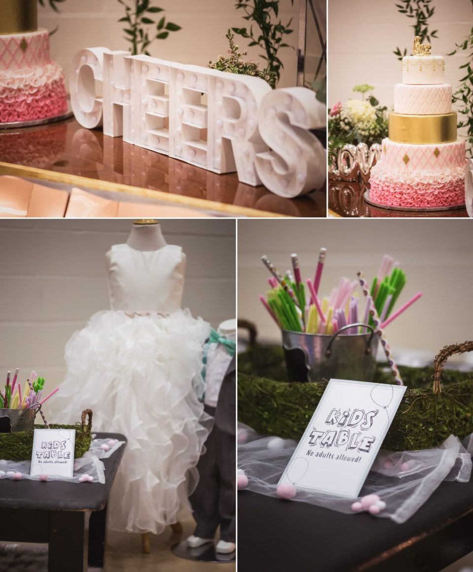 Sweet LOVE Light Pink, Minty Blue, and Gold Wedding Theme | La Crosse Bridal Expo 2018 | Photography by Pink Spruce Photography, Wedding Photographer La Crosse WI