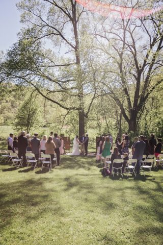 Outdoor Norskedalen Ceremony and Celebrations on the River Wedding Reception | Nvette + Vic