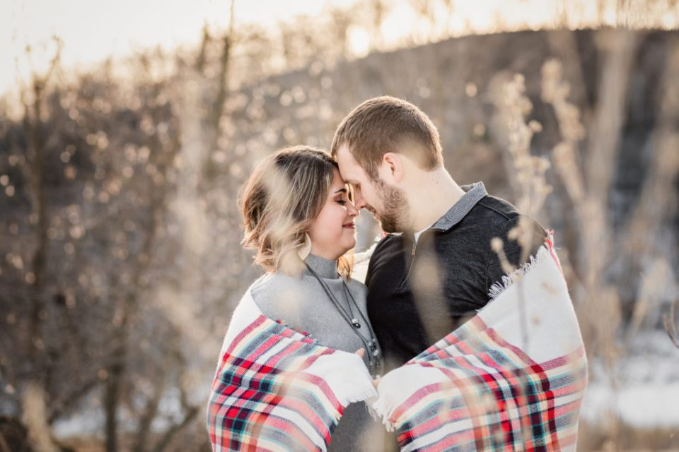 Winter Engagement Session at Cassell Hollow Farm by Pink Spruce Photography