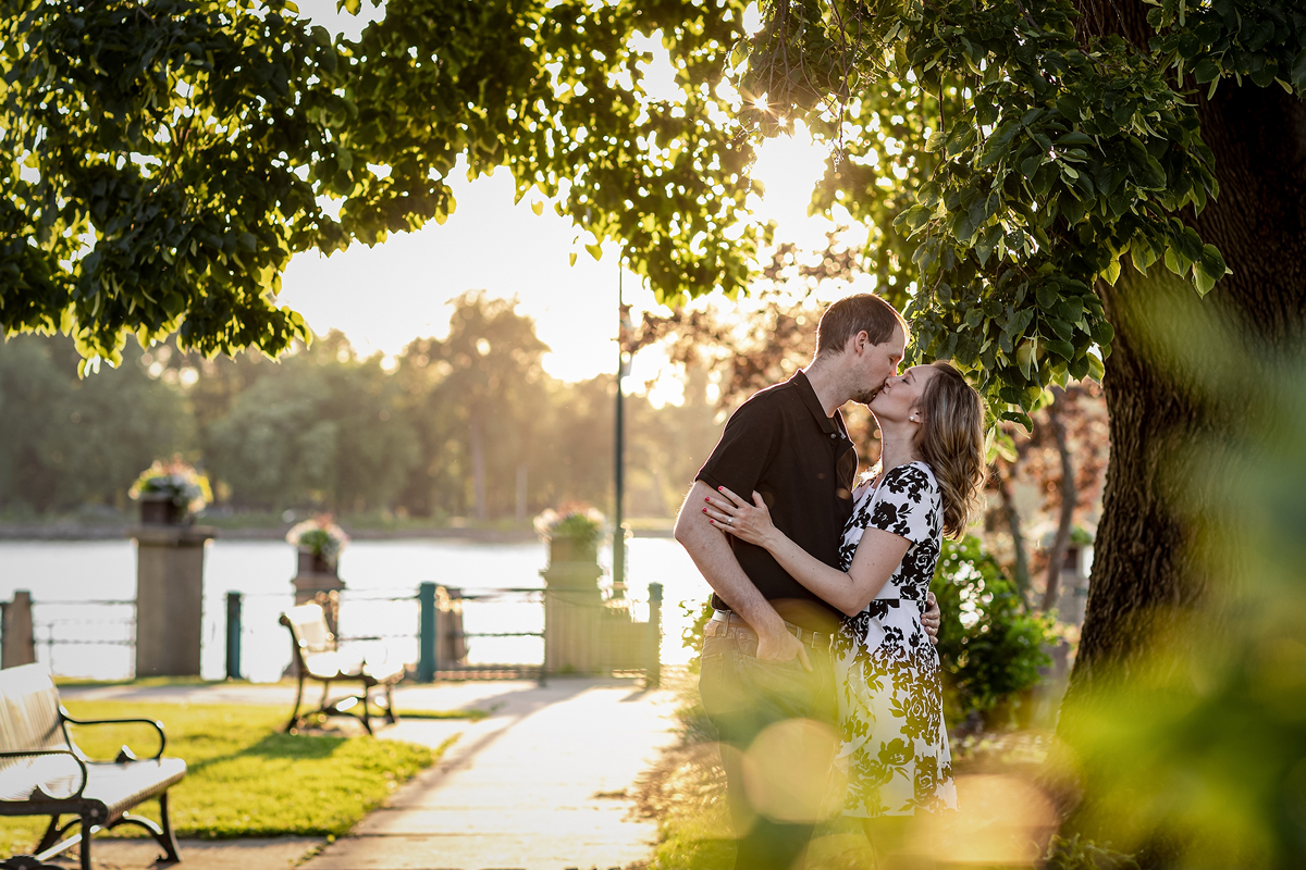 Summer Engagement Session at Riverside Park | Pink Spruce Photography – Wisconsin Wedding Photographer