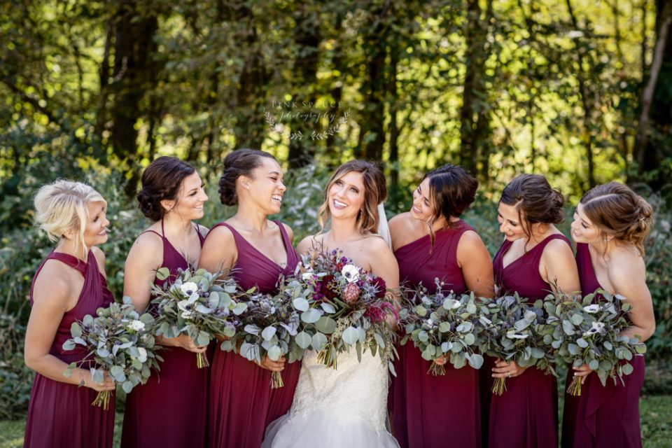 Bridesmaids at a Winnebago Springs Wedding · McKennah + Jacob | Minnesota Wedding Photographer