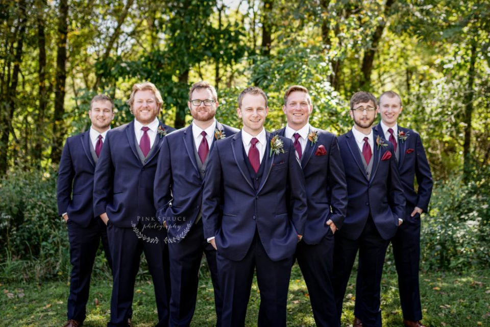 Groomsmen at a Winnebago Springs Wedding · McKennah + Jacob | Minnesota Wedding Photographer