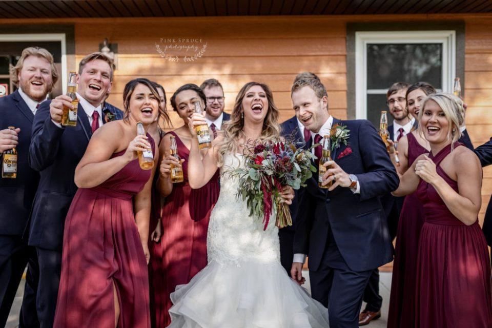 Wedding Party at Winnebago Springs · McKennah + Jacob   Caledonia MN Wedding Photographer