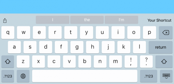 How to add your own shortcuts above the keyboard in iOS 9 | iOS Dev