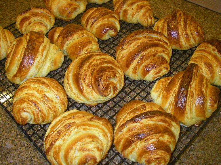 Croissants...fresh from the oven.