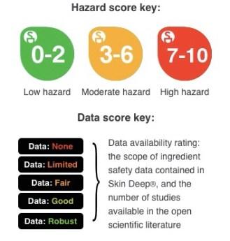 Hazard score key