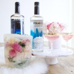 Polar Bears Floral Ice Buckets