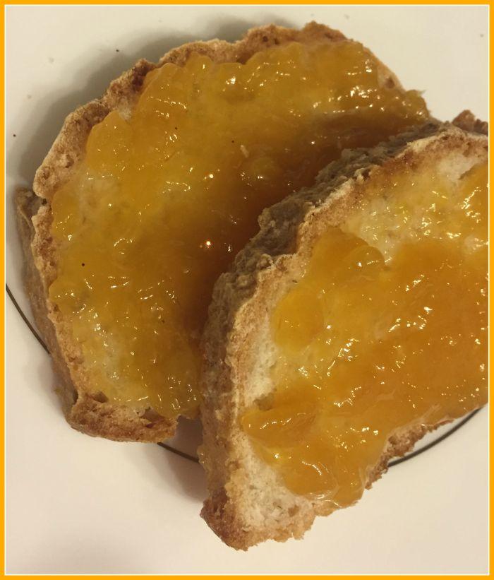 peach jam bread spread