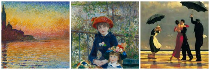 Monet, Renoir, and Vettriano Artists