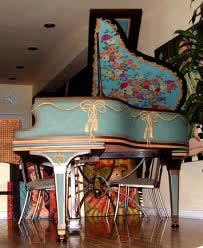 stunning painted piano